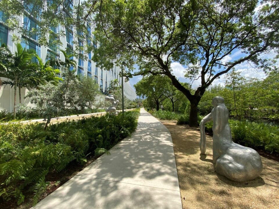 The park's ecologically sensitive green spaces incorporate 3,500 square of native butterfly gardens and a new eco-edge that has vastly improved that once-compromised park topography integrity.